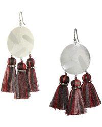 Chan Luu - Red Mix Tassel Earrings (red Mix) Earring - Lyst