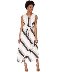 e76f4459647ee Calvin Klein - V-neck Maxi Dress With Ruffle (black latte) Women s