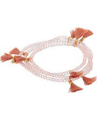 Shashi - Laila Crystal Wrap Bracelet (light Pink) Bracelet - Lyst