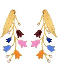 Tory Burch - Bellflower Statement Earrings (multi/brass) Earring - Lyst