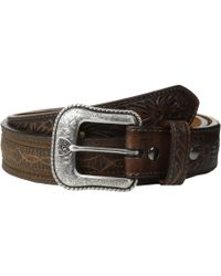 Ariat - Barbwire Belt (brown) Men's Belts - Lyst