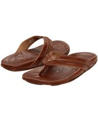 97e272c87d775 Olukai - Mea Ola (terra dark Wood) Men s Sandals - Lyst