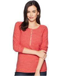 Ariat - Alpine Henley Top (baked Apple) Women's Long Sleeve Pullover - Lyst