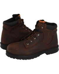 Timberland - Magnus 6 Steel Toe (brown Oiled Nubuck Leather) Men's Work Boots - Lyst