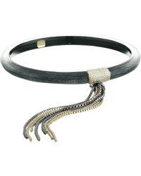 Alexis Bittar - Skinny Tassel Bangle (warm Grey) Bracelet - Lyst