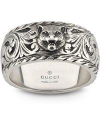 Gucci - Gatto Ring - Lyst