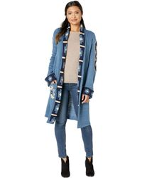 Wrangler - Long Sleeve Duster Cardigan (navy/cream/blue) Women's Clothing - Lyst