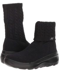Skechers Skyhigh Ultra Ankle Boots in Black Lyst