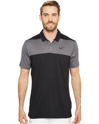 Nike - Color Block Dry Polo (gunsmoke/rush Coral/flat Silver) Men's Clothing - Lyst