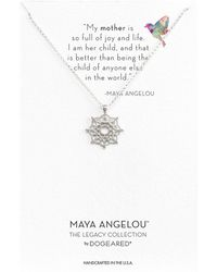 Dogeared - Maya Angelou: Mom Me Necklace (sterling Silver) Necklace - Lyst