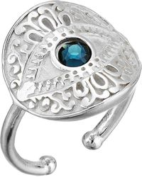 ALEX AND ANI - Evil Eye Statement Adjustable Ring - Precious Metal (sterling Silver) Ring - Lyst