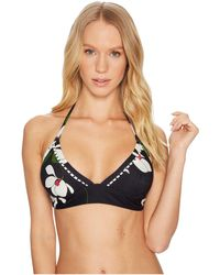 6ffe47e11131e Robin Piccone - Elisa Triangle Bikini Top (midnight Multi) Women s Swimwear  - Lyst
