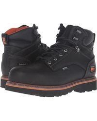 Timberland - Ascender 6 Alloy Safety Toe Waterproof Boot (black Full Grain Leather) Men's Work Lace-up Boots - Lyst