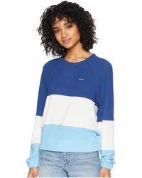 RVCA - Sweet Emotion Sweatshirt (navy) Women's Sweatshirt - Lyst