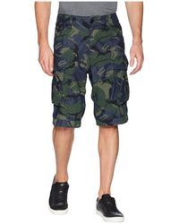 G-Star RAW - Rovic Relaxed 1/2 Shorts In Raw Denim/light Aged Olive All Over (raw Denim/light Aged Olive All Over) Men's Shorts - Lyst