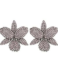Nina - Pave Large Orchid Earrings - Lyst