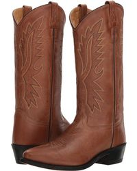 Old West Boots - Wyatt J Toe (black) Cowboy Boots - Lyst