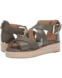 5ea9fdc7679 MICHAEL Michael Kors - Darby Sandal (Luggage Vachetta 1) Women s Sandals -  Lyst