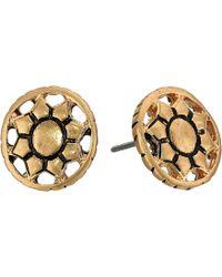 The Sak - Engraved Open Stud Earrings - Lyst