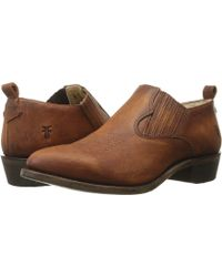 Frye - Billy Shootie (black Washed Oiled Vintage) Women's Slip On Shoes - Lyst