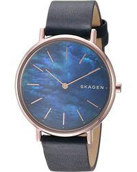 Skagen - Signatur Slim - Skw2731 (blue) Watches - Lyst