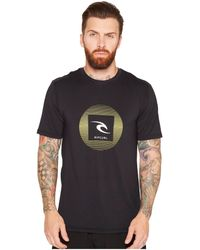 Rip Curl - Round Up Short Sleeve Surf Shirt (black) Men's Swimwear - Lyst
