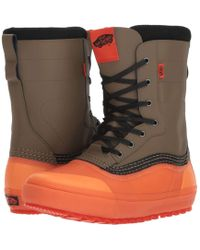 6f89793104 Vans - Standardtm Snow Boot  18 (black grey (pat Moore))