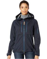Fjallraven - Keb Eco-shell Jacket W (dark Navy) Women's Coat - Lyst