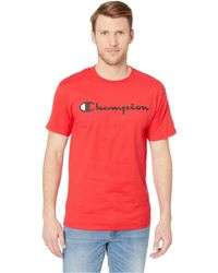 8d1e55a5 Lyst - Champion Classic Jersey Graphic Tee (black) Men's T Shirt in ...