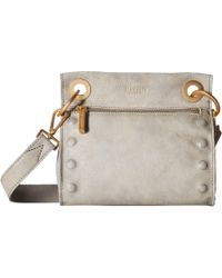 Hammitt - Tony Embossed (awa/awa Buffed/brushed Silver) Cross Body Handbags - Lyst