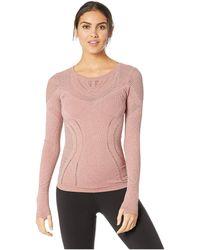 Alo Yoga - Lark Long Sleeve (rosewood Heather) Women's Clothing - Lyst