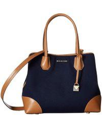 841481ba0b74 MICHAEL Michael Kors - Mercer Gallery Medium Center Zip Tote (admiral) Tote  Handbags -