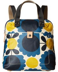 Orla Kiely - Matt Laminated Scallop Flower Small Backpack Tote - Lyst