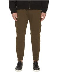 The Kooples - Khaki Sweatpant Bottoms With Ankle Zip Detail - Lyst