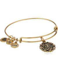 ALEX AND ANI - Lotus Peace Petals Iv Bangle (rafaelian Gold) Bracelet - Lyst