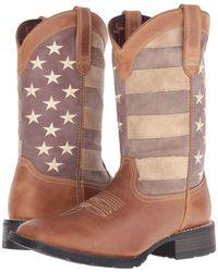 Durango - Mustang 12 Faded Glory (brown) Cowboy Boots - Lyst