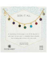 Dogeared - Seek It All, Multi Bezeled Gem Necklace - Lyst