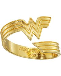 ALEX AND ANI - Wonder Woman Ring Wrap (14k Gold Plated) Ring - Lyst