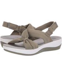 354d1121451 Clarks - Arla Primrose (black Fabric black) Women s Sandals - Lyst