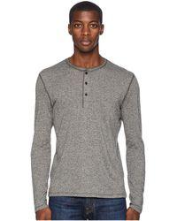 Billy Reid - Mouline Henley (grey) Men's Clothing - Lyst