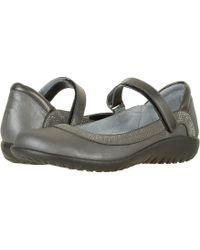 Naot - Tahi (black Velvet Nubuck/gunmetal Rivets/black Raven Leather) Women's Shoes - Lyst