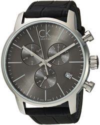 Calvin Klein - City Watch - K2g271c3 (cool Grey/black) Watches - Lyst