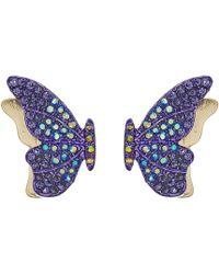 Betsey Johnson - Purple Butterfly Stud Earrings (purple) Earring - Lyst