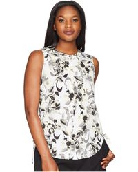 Ellen Tracy - Sleeveless Ruched Blouse - Lyst