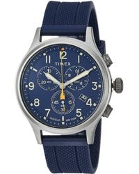 Timex - Allied Chrono Silicone (blue/blue) Watches - Lyst