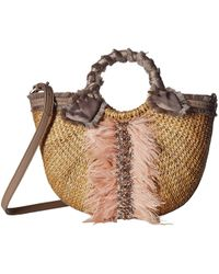 Sam Edelman - Idina Feather Straw Tote - Lyst
