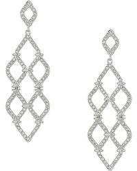 Swarovski - Lace Chandelier Pierced Earrings (rhodium Plating/white) Earring - Lyst