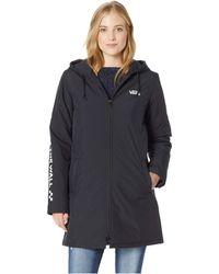 Vans - Alliance Long Windbreaker Jacket (black) Women's Coat - Lyst
