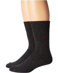 Columbia - 2-pack Brushed Fleece Lined Crew (black) Men's Crew Cut Socks Shoes - Lyst
