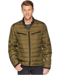 Marc New York - Puckered Packable Moto (olive) Men's Coat - Lyst